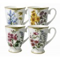 McIntosh Fine Bone China - Elizabeth set of 4 Mugs