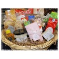Deluxe Sweet & Savory Family Gift Basket - Wicker Hamper