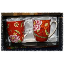 Asian Pheasant Mug Pair Set - McIntosh Fine Bone China