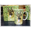 McIntosh Fine Bone China - Canine Collection: German Shepherd Crest Mug