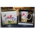 McIntosh Fine Bone China - Wild Flowers Collection - Crest Mug