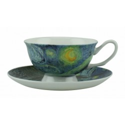 "McIntosh Fine Bone China - Van Gogh ""Starry Night"" Cup & Saucer set"