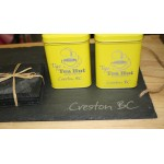 """Creston"" Engraved Slate Tray and Coaster Set"