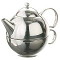Henley Me Tea Teapot with Strainer - 18/8 Grade Stainless Steel
