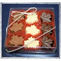 Charlie's Chocolate Gift Boxed Maple Leaves - 9 pc