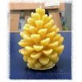 Honey Bee Zen - Pinecone Pure Beeswax Candle