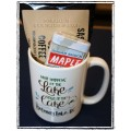 Kootenay Lake Coffee Mug Gift Set - with Sasquatch Coffee & Sugar Shack Maple Candy Tin