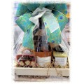 BC & Beyond Wine & Treats Gift Basket -  Brittany's Flower Farm Bouquet option