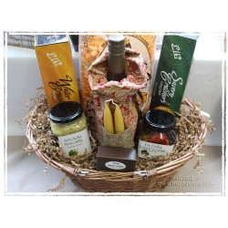 Local Wine & Candles - Gourmet Evening Gift Basket