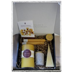 Pure Beeswax Candle Gift Box -  Made by Honey Candles in Kaslo BC
