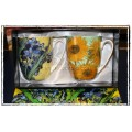 "McIntosh Fine Bone China - Van Gogh ""Flowers"" Mug Pairs"