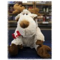 Adorable Funky Moose - Stuffed Moose with Canada Flag Scarf