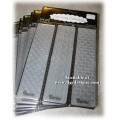 Embossing Essentials Embossing Folders - Simple Pattern Borders 3 Pk