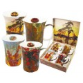 "McIntosh Fine Bone China ""Tom Thomson"" Set of 4 Mugs"