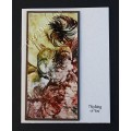 Encaustic Elements  - Whimsical Floral #013 Made in Creston BC