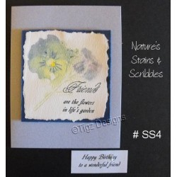Nature's Stains & Scribbles Greeting Cards - SS4
