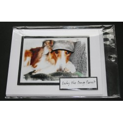 Dog Birthday Greeting Card - Keta