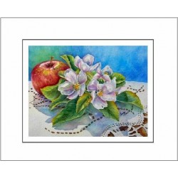 Ambrosia Note Card - A taste of BC print from orginal Watercolor Painting by Laura Leeder