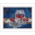 "Watercolor Prints on Note Cards by Creston artist Laura Leeder - ""Cherry Delight"""