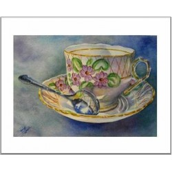 "Teacup Notes by Creston artist Laura Leeder - ""Miss Primrose"""