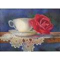 Laura Leeder Watercolor Teacup Note Prints - Comfort & Joy
