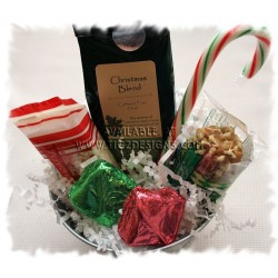 Lil' Tub of Christmas Tea and Sweets - Creston Gift Baskets