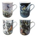 "McIntosh Fine Bone China Mug Set (4) - ""Birds"" Robert Bateman"