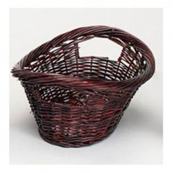 "Build your Basket - Burgundy or White 16"" Willow Gift Basket"