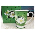 McIntosh Fine Bone China Royal Mug - Flower Romance Green with White