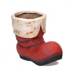 "Build your Basket - Paper Mache 8"" Santa Boot"