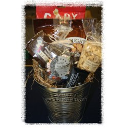 Creston Coffee n' Snack Bucket style Gift Basket