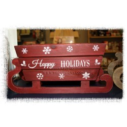 Build Your Basket - Happy Holiday Wooden Sleigh