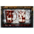 McIntosh Fine Bone China - Holiday Reindeer Mug Pair