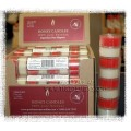 Honey Candles - Special Occasion Tealight Rolls 4Red/4White - Pure Beeswax