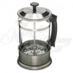 Brushed Stainless Steel Dimbula Tea or Coffee Press - 4 Cup