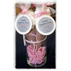 Creamy Raspberry Cocoa w/Marshmallows - 2 servings