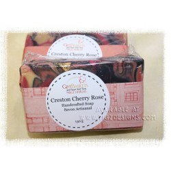 Creston Cherry Rose Soap - Made in BC by Yellow Rose Designs