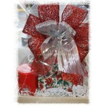 Poinsettia Mug, Tea & Christmas Sweets Gift Basket