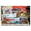 10 Pack Sweet & Salty Snack Attack Gift Baskets - Creston BC Delivery