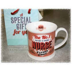 No 1 NURSE Diner Mug & Gift Bag