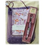 H&H Notebook & Pen Set in Organza Bag - Assorted