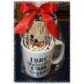 "Coffee Mug & Sasquatch Coffee Gift - ""I teach therefore I drink (Coffee)"""