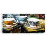 "McIntosh Fine Bone China - Van Gogh ""Irises"" Cup & Saucer"