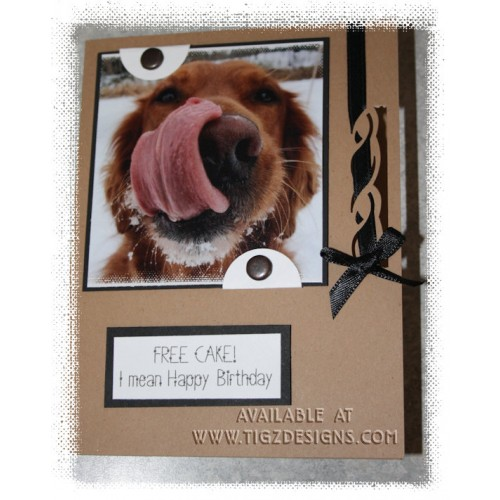 Dog Birthday Card Made In Bc Murphy Free Cake