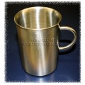 Henley Brushed Stainless Steel Tea Mug - 11.7oz