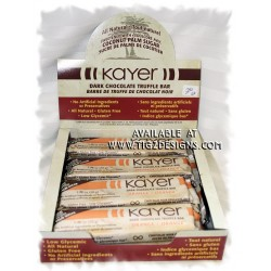 Kayer Dark Chocolate Orange Truffle Bar - All Natural & Gluten Free