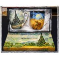 "McIntosh Fine Bone China - Van Gogh ""Wheatfields""  Mug Pairs"
