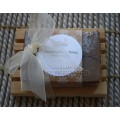 Kootenay Milk & Honey Soap and Wooden Spa Soap Dish - Made with local products in BC