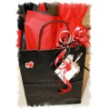"""Custom Valentine's Day"" Medium Gift Bag w/tissue & ribbons"