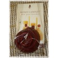 Honey Candles - Beeswax Burgundy Rose Candle